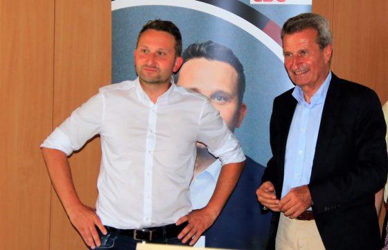 """""""Politische Weinprobe"""" mit Günther H. Oettinger"""