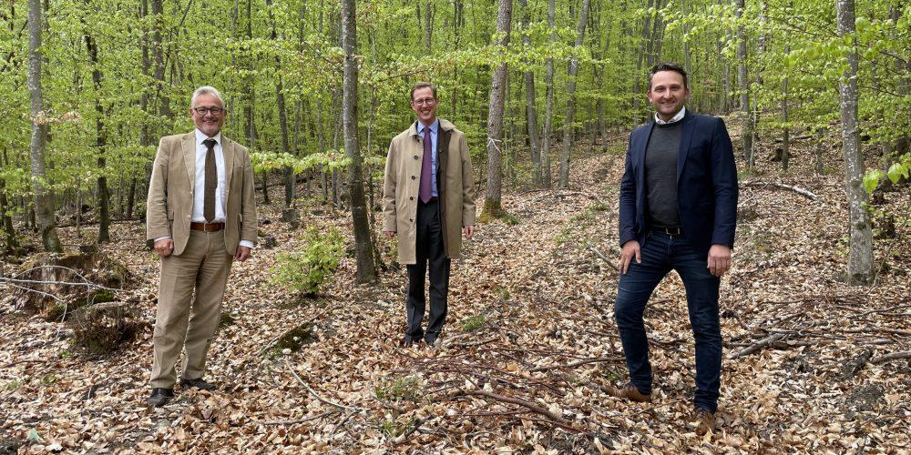 Mit Prinz Bernhard im Wald
